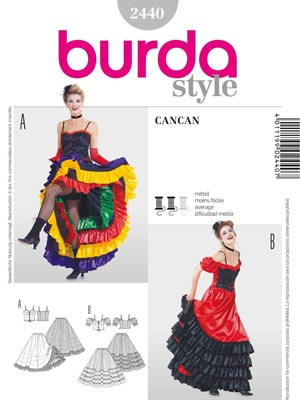 Burda kroj 2440 - Can Can